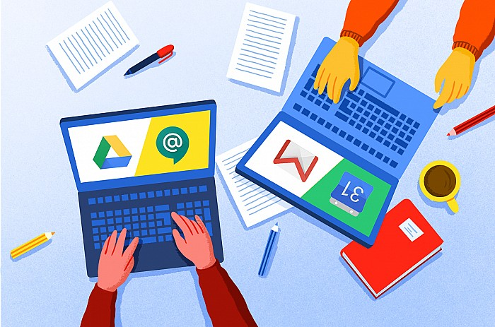 Imatge Primer contacte amb les eines G Suite for Education aplicades a l'aula
