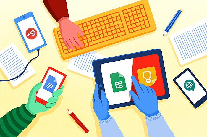 Imatge Progressar en el treball amb les eines G Suite for Education aplicades a l'aula