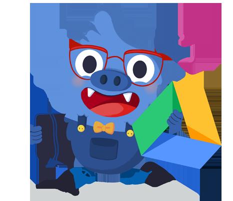 Il.lustració entranyable que acompanya el curs Primer contacte amb les eines Google Workspace for Education aplicades a l'aula