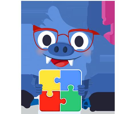 Il.lustració entranyable que acompanya el curs Resposta educativa a l'alumnat amb trastorn de l'espectre autista (TEA)