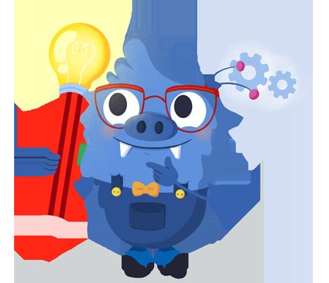 Il.lustració entranyable que acompanya el curs Del mètode científic al design thinking: fer front als problemes amb solucions creatives